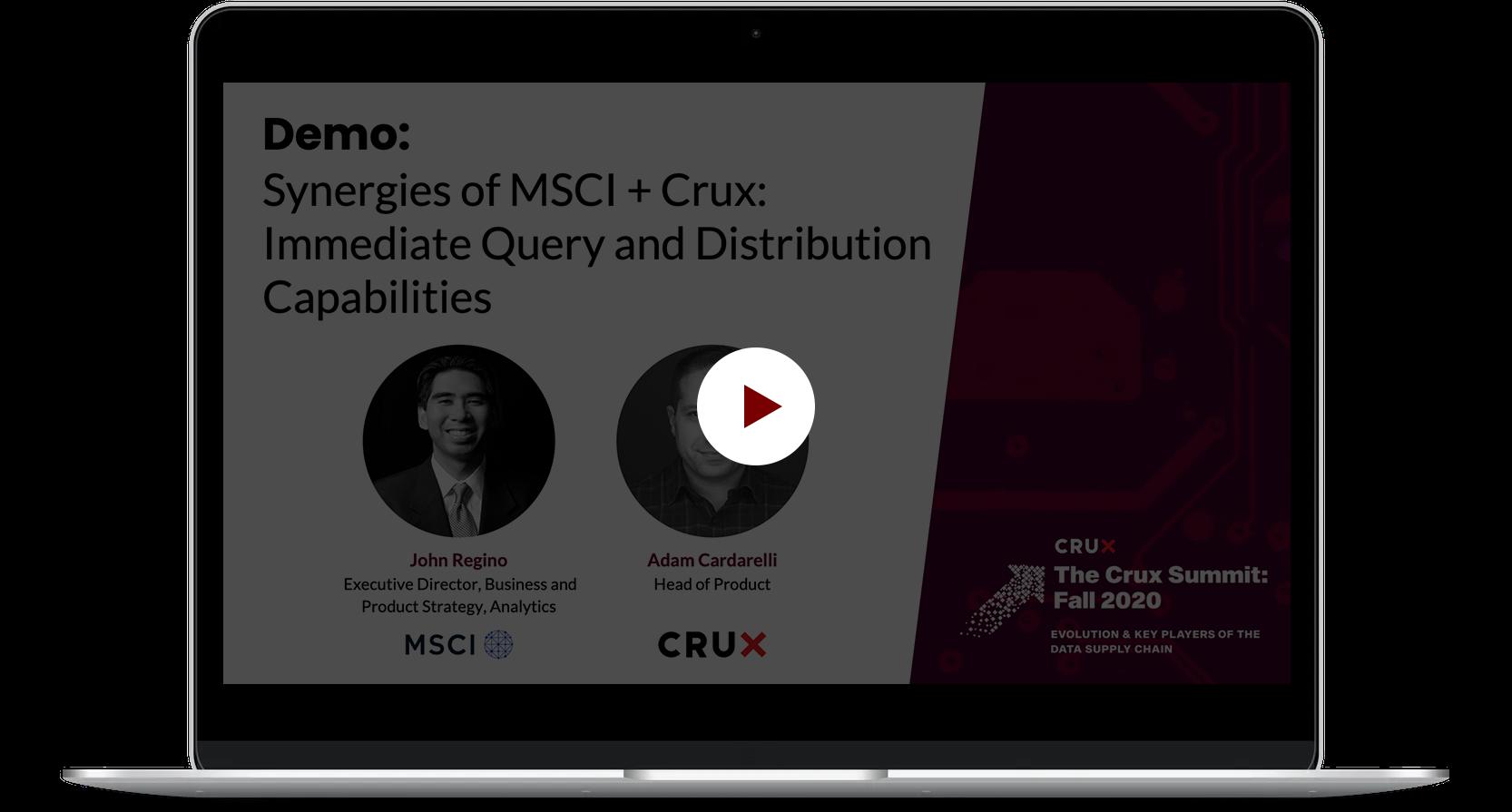 Crux_TCS_Demo+SynergiesMSCI_Crux+ImmediateQueryDistributionCapabilities_03