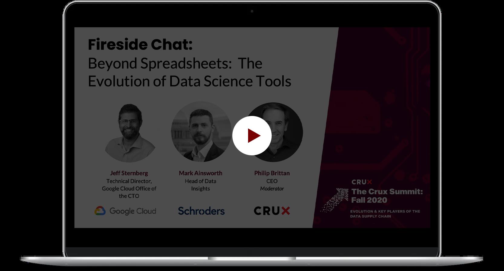 Crux_TCS_FiresideChat+BeyondSpreadsheets+TheEvolutionofDataScienceTools_12